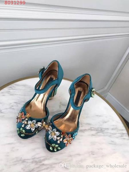 Novas mulheres da moda sapatos de salto alto vestido de Diamante decoração Teal, Borgonha e roxo tamanho 34-41 altura do calcanhar 10 cm