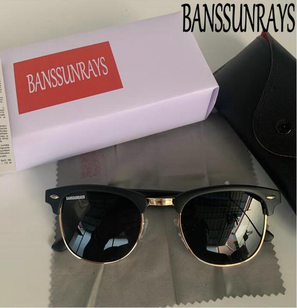 BANSSUNRAYS-51MM di alta qualità Occhiali da sole classici RAGGI da sole per gli uomini donne BANS CAT EYE Brand Design Occhiali Oculos de Sol Bands Sunglass
