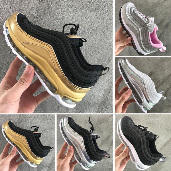 Compre Nike Air Max 97 Niños 2018 Zapatos Niños Zapatillas Para Correr Niño Y Niña Niño Pequeño 2018 Más Tn 97 Trainer Cushion Surface Respirable