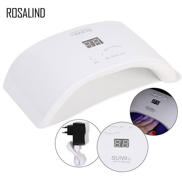 ROSALIND 24 W sun9se UV Lamba Oje Kurutucular 12 LEDs Çift Güç lambası çivi için USB Şarj Tırnak Sanat Araçları D18120801