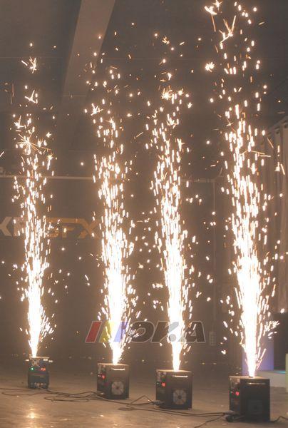 top popular Black Wedding Stage Fountain Cold Spark Machine Flame Stage Effect Machine DMX Sparkler Firework Machine CE ROHS FCC 2021