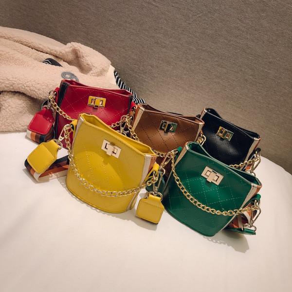 sacs à main enfants coréens enfants PU cuir rhombique plaid sac à bandoulière garçons filles mini petit mode luxe designer sac à main cross body sacs