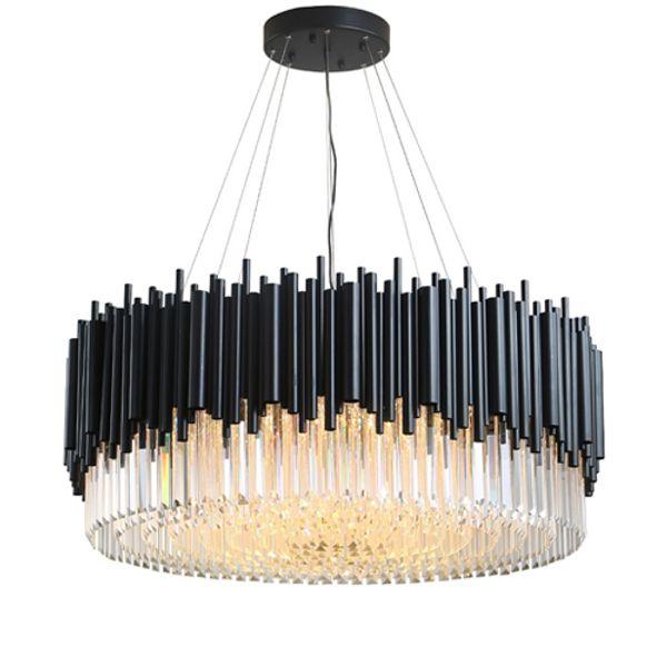 New design postmodern crystal chandelier lights for dining room living room luxury black chandeliers lamps led pendant lighting fixtures