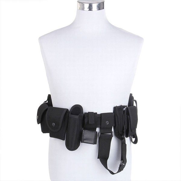 Outdoor Tactical Belt Law Modular Security Duty Utility Belt with Pouches Holster Gear Man or Woman