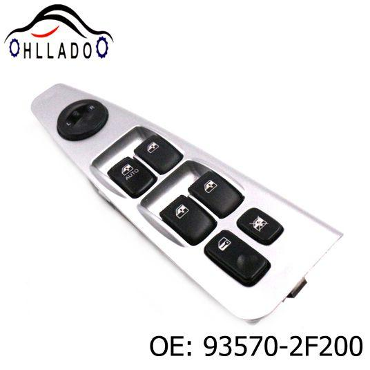 top popular HLLADO New Electric Power Window Lifter Master Control Switch 93570-2F200 935702F200 For K ia Cer ato Power Window Switch High Quality 2021