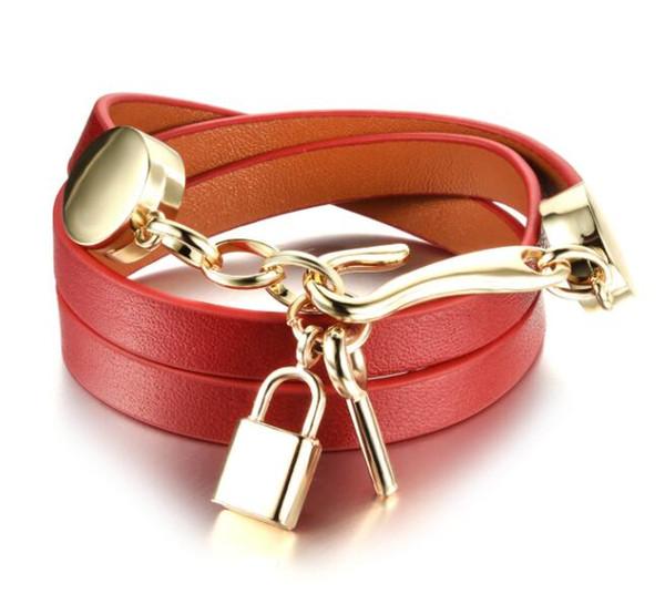 Bijoux de créateurs de luxe femmes bracelets key lock gold bangle for ladies wholesale jewelry charm bracelet new year gift