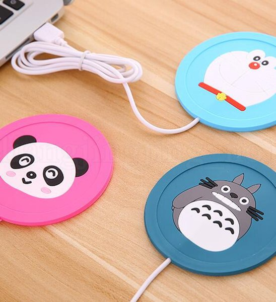 USB Electronics Heat Cup Warmer Coaster Office Tea Coffee Mug Warmer Desktop Mug Hot Drinks Beverage Cup Mat Pad KKA6548
