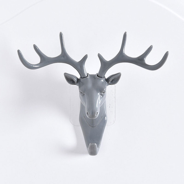 New Deer Head Antlers Wall Hook for Hanging Clothes Hat Scarf Keys Rack Home Decor SF66