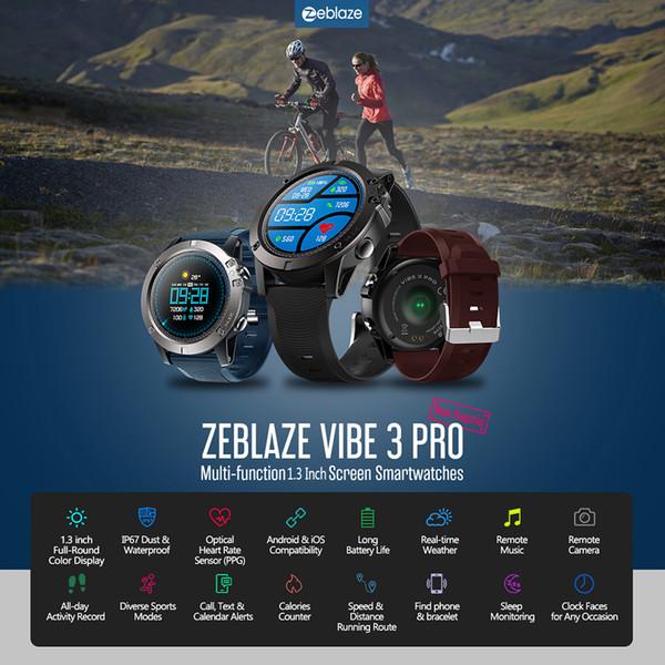 Zeblaze vibe 3 pro smart watch homens mulheres inteligente pulseira bt4.0 pedômetro relógio cronômetro relógio digital de fitness esportes relógio de pulso