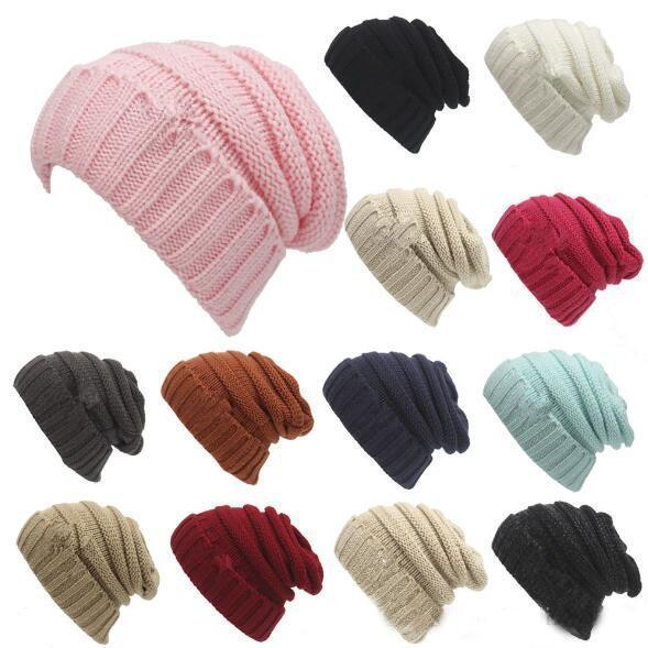 top popular Free DHL INS Unisex Adults Kid Trendy Cap Fedora Knitted Hats Luxury Cabel Slouchy Beanie Winter Fashion Beanies Outdoor Ski Hats Slouch Cap 2020