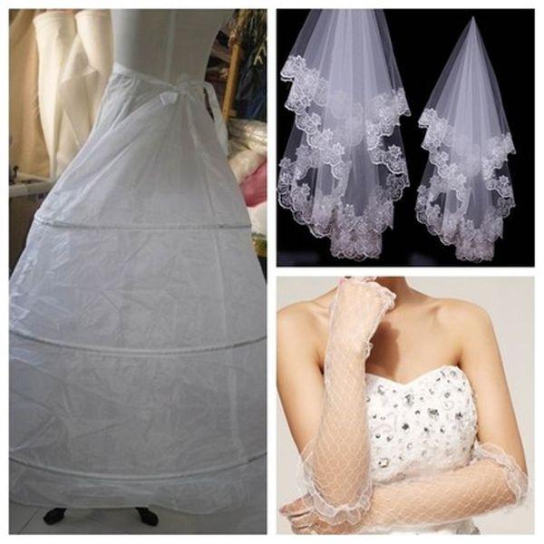 Wedding dress and three sets
