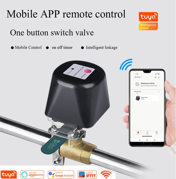 Wholesale smart water resale online - mart Home Automation Modules Tuya Smart Home Wireless Control Gas Water Valve Watering System WiFi Shutoff Controller Work with Alexa and