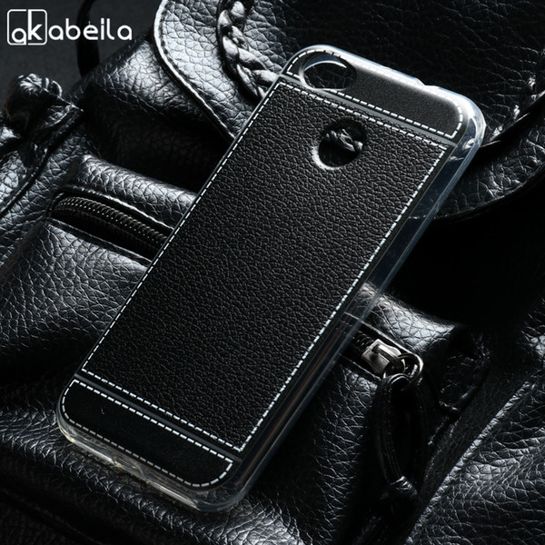 case AKABEILA Phone Cover Cases ZTE Blade A6 5.2inch Covers Back Litchi Soft TPU For ZTE A6 Case Cover Housing