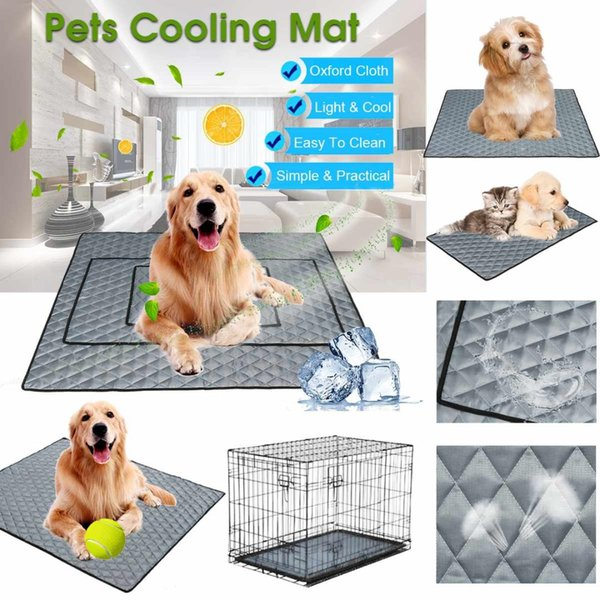 NEW Summer Cooling Mats Blanket Ice Pet Dog Bed Mats For Dogs Cats Sofa Portable Tour Camping Yoga Sleeping Pet Mat