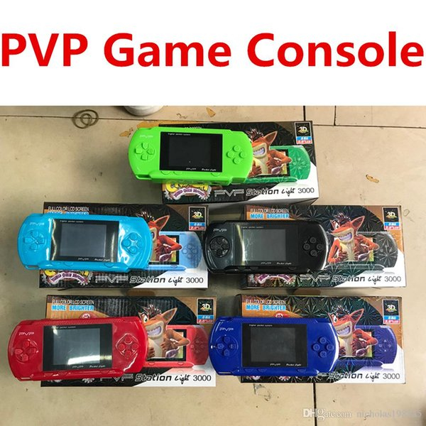Wholesale PVP Portable Games Video Console PXP 16 Bit PVP 8 Bit TV-Out Games Slim Station Gaming Console Player Child Intelligence Games