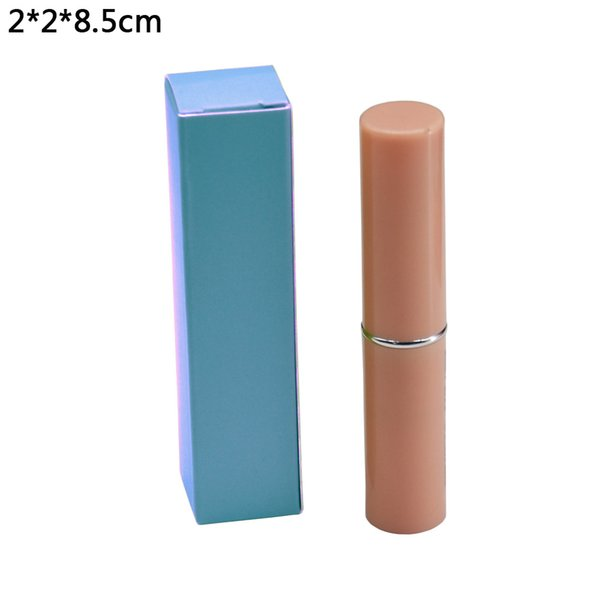 2*2*8.5cm Blue Paperboard Packing Boxes Wedding Favor Craft Package Cradboard Boxes Kraft Paper DIY Lipstick Gift Package Box 50pcs/lot