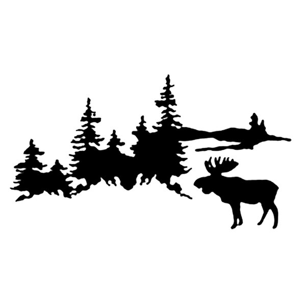 16*8.8cm Secluded beautiful outdoor forest mountain style vinyl packaged distinctive car motorcycle truck sticker