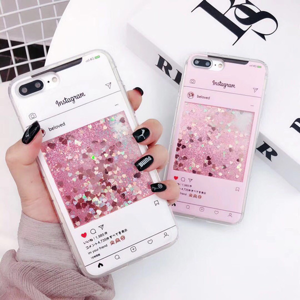 Lüks Glitter Sequins Dinamik Quicksand Sıvı Vaka iphone 7 6 s 8 artı X XS Max XR Sevimli Parfüm Şişesi Çiçek Telefon Kapak