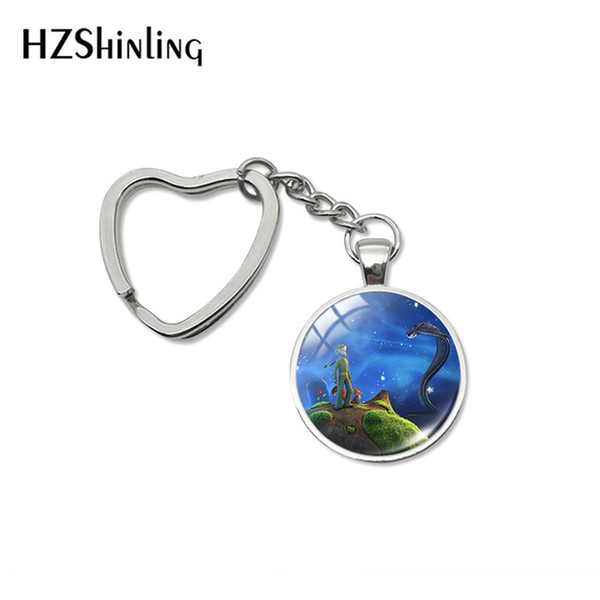 2019 New Fashion Lovely The Little Prince Heart Kechains Hand Craft Jewelry Car Bag Hold Keyrings Accessory Gift for Friends