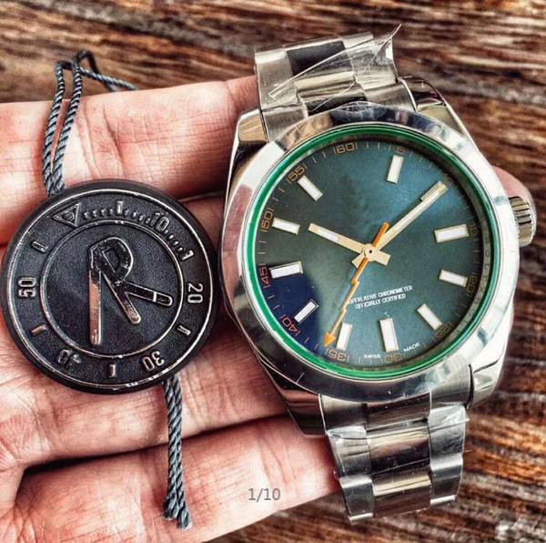 AR Fábrica 116400GV relógio dos homens 316L precisão de aço 2836 movimento / 3131 movimento duas opções de 40mm de diâmetro