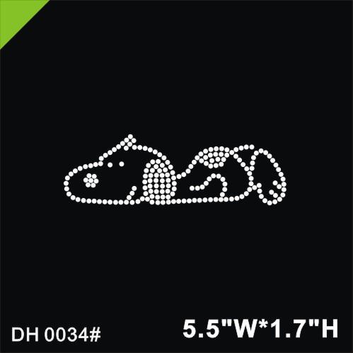 Free shipping Snoopy Rhinestone Motif Iron On Transfer Motif Hot Fix Crystal Rhinestone Motif Design DIY DH0034#