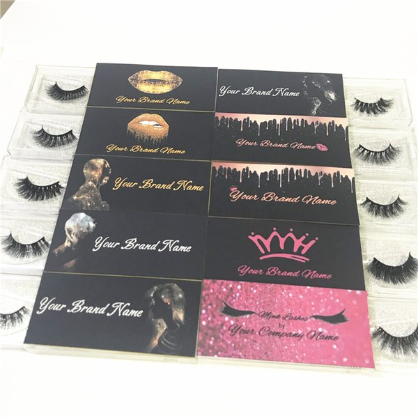 Custom Eyelash Packaging Logo For Private Sticker Label Used For Mink  Lashes Natural 3D Mink Eyelashes False Lashes Best Eyelash Glue Eye Lash