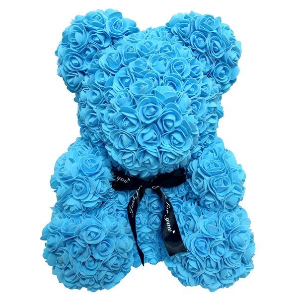 PE Artificial Subiu Urso 38 cm de Pe Alto para a Espuma Eterna Flor Presente de Ano Novo Dia Dos Namorados Boneca de Casamento Em Casa Docoration Adorável Brinquedo