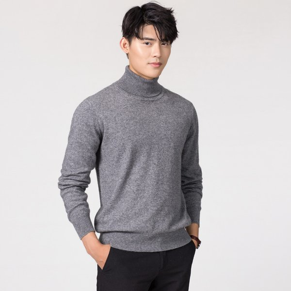 Hot Sale Men Jumpers and Sweater Cashmere Wool Knitted Clothes 11Colors Turtleneck Man Sweaters Male Woolen Tops Free Shipping