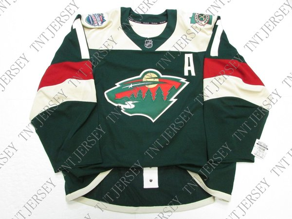 Cheap custom PARISE MINNESOTA WILD STADIUM SERIES TEAM ISSUED JERSEY stitch add any number any name Mens Hockey Jersey XS-5XL