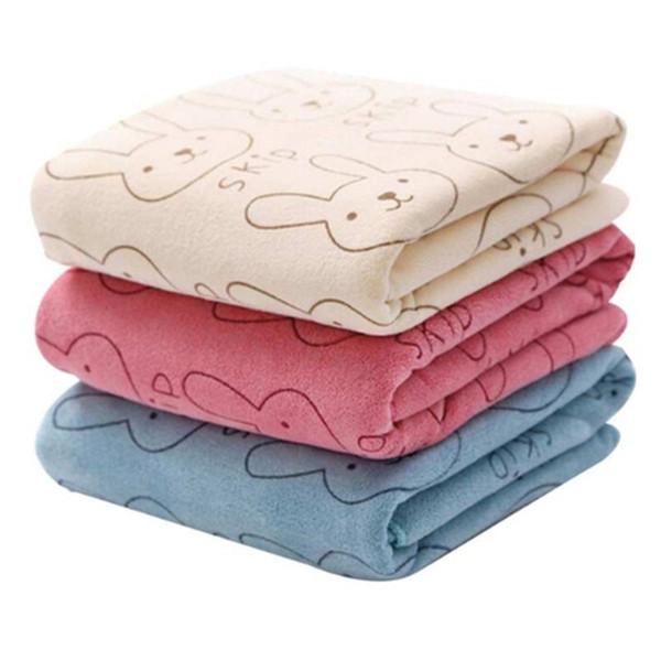 Cartoon absorbent baby towel child face wash towel nano-microfiber children's handkerchief small hand towel cute rabbit style