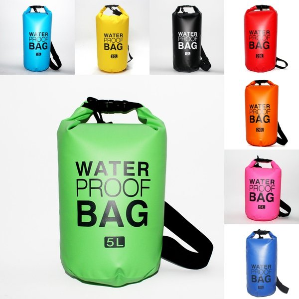 Professional Waterproof Dry Bag For Travel Swimming Backpack 2L 5L 10L 15L 20L 30L Dry Sack Camping Diving Hiking Fishing Traveling M245Y