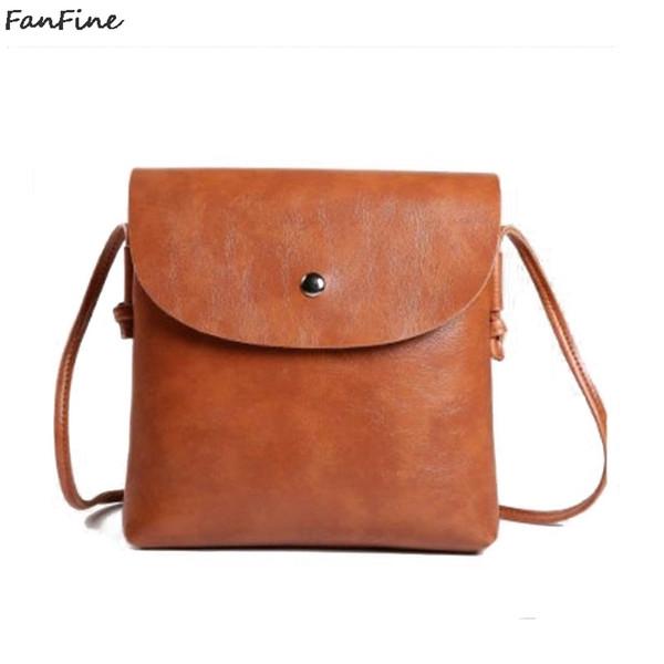 Cheap FanFine New Design handbags PU Leather bag women Small Shoulder messenger Male Brand Designer Crossbody phone bags