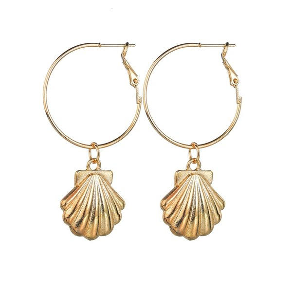Concise Earrings Woman Ins Shell Earring Product Originality Alloy Geometry Accessories pearl earrings, piercing,Pandora charms,summer sundress women,shell jewelry,abalone shell jewelry,sea shell jewelry,shell jewelry set,shell jewelry diy,cowrie shell jewelry,conch shell jewelry,women shell jewelry sets