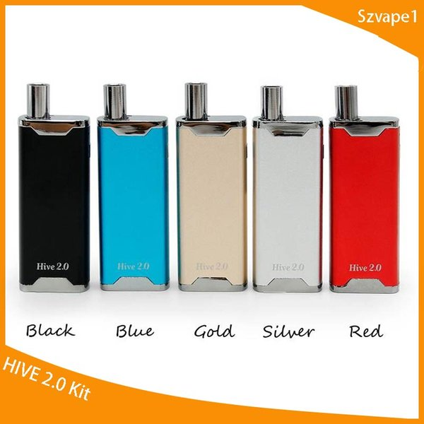 Yocan Hive 2.0 Vaporizer Kit 650mAh Variable Voltage Battery Box Vape Mods Concentrate Wax Oil 2 in 1 Atomizers Free DHL