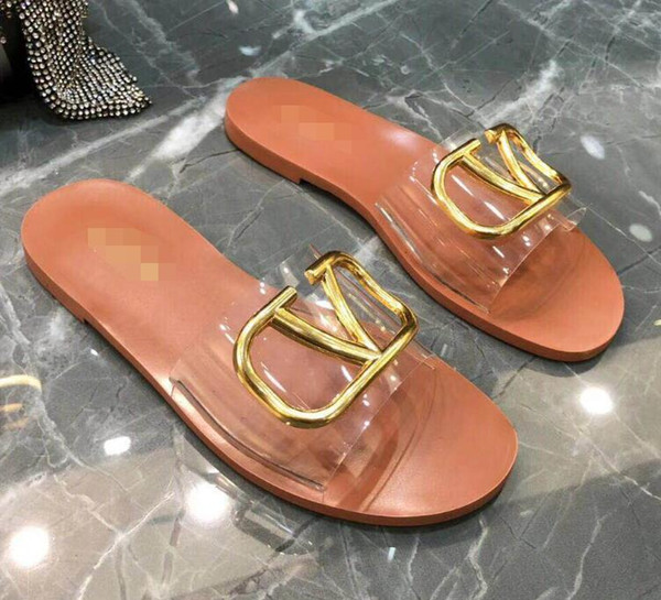 european_brand_shoes / New fashion women's casual sandals summer Leather beach shoes female Peep Toe slippers Large size L3292