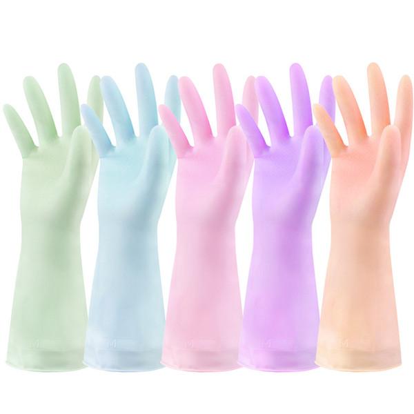 Оптовая водонепроницаемый ПВХ перчатки для мытья посуды прочный бытовой с длинным рукавом прачечная мыть посуду перчатки кухня хозяйственные чистые перчатки DBC DH0619