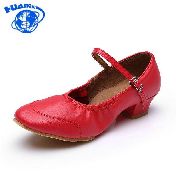 Dress Shoes Huanqiu 2019 New Arrival Fashion Brand Women Girls Ballroom Latin Tango Low Heeled Modern Size 34-41 Jh177