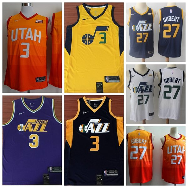 2019 New The City Edition Jazz Basketball Jersey Mens Jazz 27 Rudy Gobert 3  Trey Burke 45 Donovan Mitchell Basketball Jerseys Embroidery 5854bd4b6