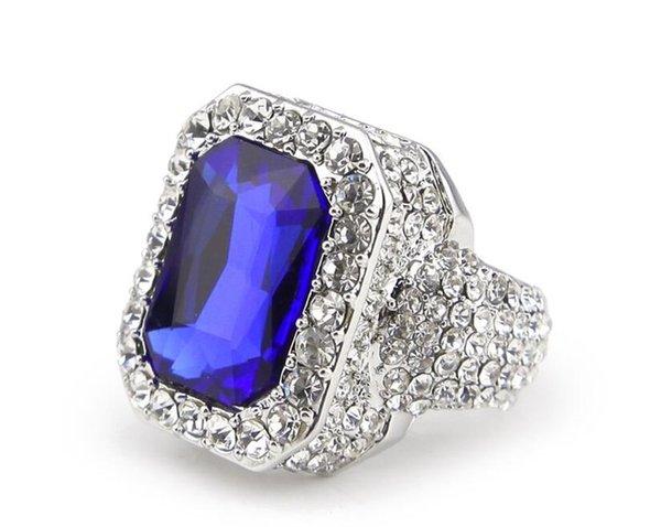 серебряный синий камень