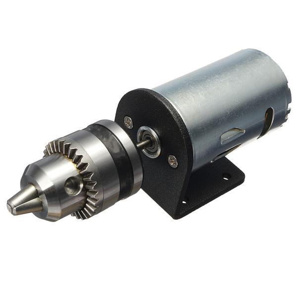 HLZS-Dc 12-36V Токарный станок Пресс 555 Мотор С Миниатюрный ручной сверлильный патрон и крепежную скобу двигатель постоянного тока