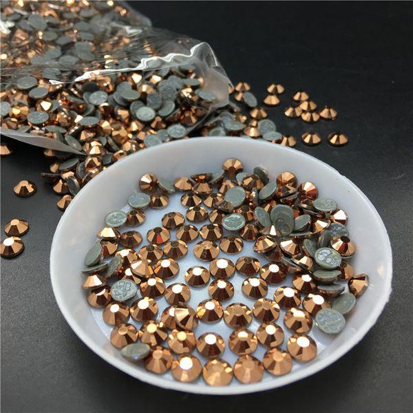 Topstone Couleur Or Rose Tailles SS3 ~ SS30 fer sur strass correctif avec transfert de colle pierres de cristal de HotFix flatback