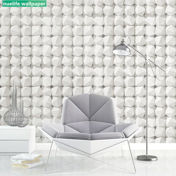 Chinese style white brick pattern restaurant clothing store shop cafe study bedroom living room children room brick wallpaper