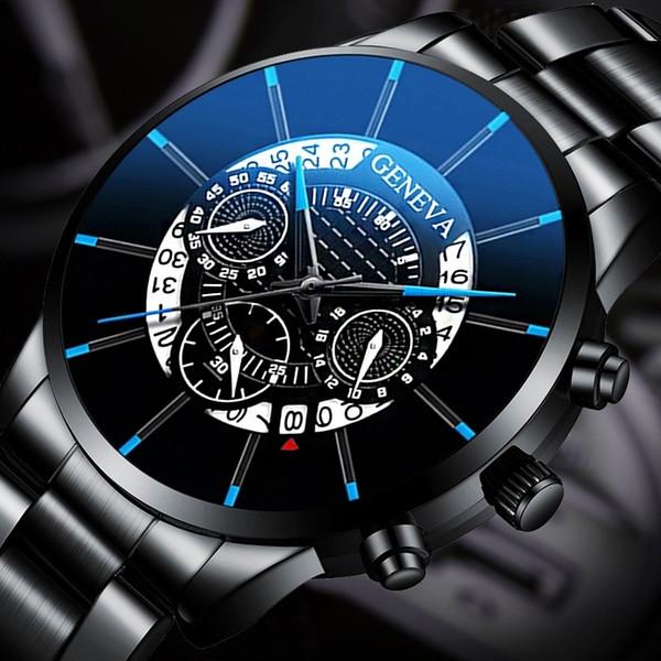 2019 Nuovo Top Brand di moda casual quarzo dell'acciaio inossidabile di Gold Watch Orologi di lusso del Mens impermeabile Orologio Relogio Masculino