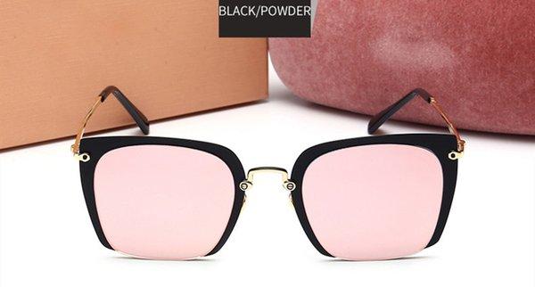 Telaio nero specchio rosa