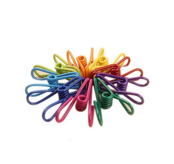 Multi-purpose Clothesline Utility Clips Steel Wire Clips Multi-purpose clamp clothes-pin Assorted Colour