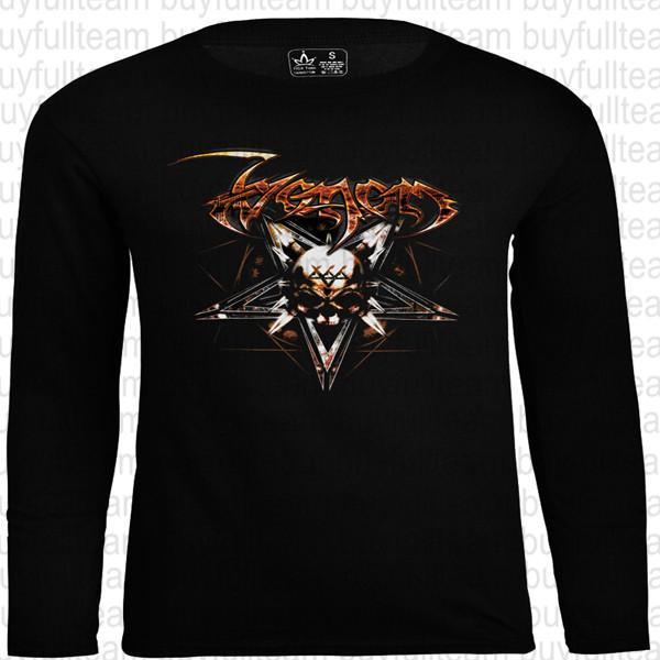 VENOM - Pentagram Graphic Mens Black Long Sleeves Tops Fashion Round Neck T Shirts Size S M L XL 2XL