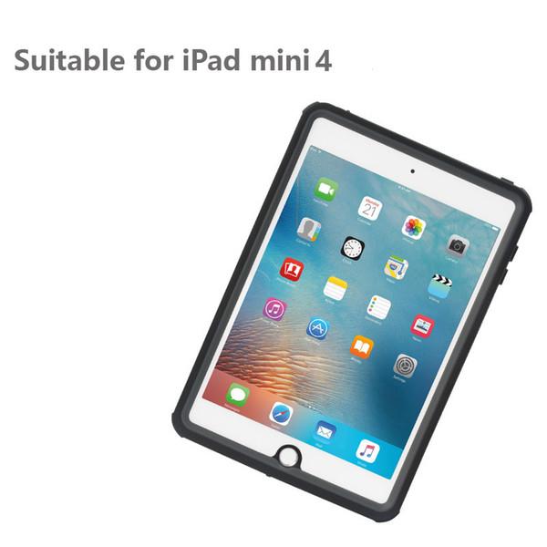 Su geçirmez Kılıf iPad Mini4 IP68 için Ince Şeffaf Su Geçirmez Darbeye Dayanıklı Kapak iPad Mini 4 için Açık Dalış Yüzme Coque