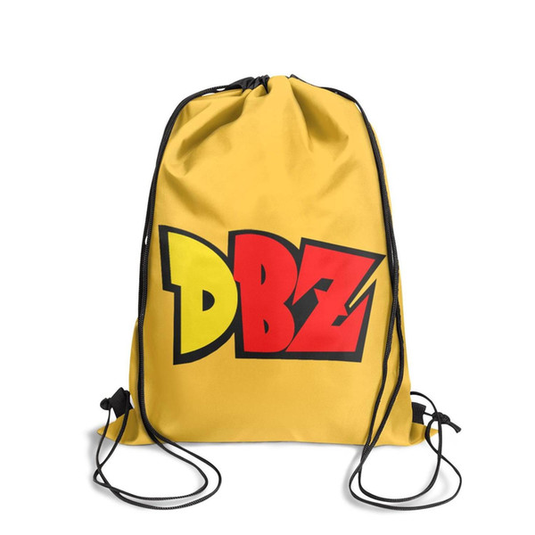 Drawstring Sports Backpack Dragon Ball Z DBZ Logo personalized convenient athletic Pull String Backpack