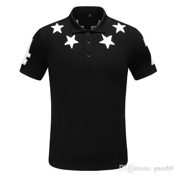 Diseñador de hombres Camisas polo 100% algodón Marca Francia cocodrilo Camisa polo moda hombre Verano manga corta POLO casual hombres POLOS T
