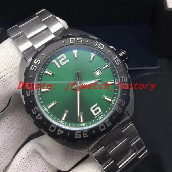 Steel strap (green dial)